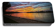 Ohio River Sunset Portable Battery Charger