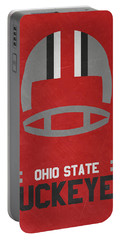 Ohio State Buckeyes Vintage Football Art Portable Battery Charger