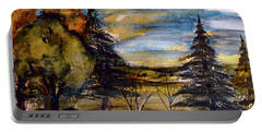 Ohio Sunset Portable Battery Charger by Mindy Newman