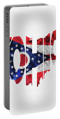 Ohio Typographic Map Flag Portable Battery Charger