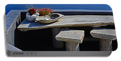 Oia Still Life On The Greek Island Of Thira Portable Battery Charger