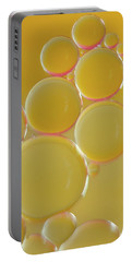 Oil Bubbles On Water Abstract Portable Battery Charger