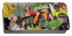 Oil- Luncheon Of The Cycling Party Portable Battery Charger