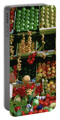 Oil Painted Faux Paris Fruit Display Portable Battery Charger
