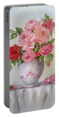 Oil Vase Rose Portable Battery Charger