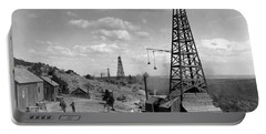 Oil Well, Wyoming, C1910 Portable Battery Charger
