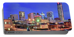 Portable Battery Charger featuring the photograph Okc Blue Evening by Frozen in Time Fine Art Photography