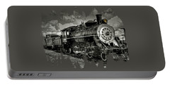 Old 104 Steam Engine Locomotive Portable Battery Charger by Thom Zehrfeld