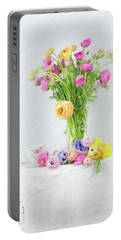 Old And New Ranunculus Portable Battery Charger
