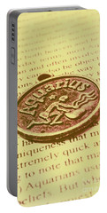 Old Aquarius Astrology Portable Battery Charger