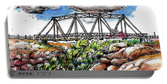 Portable Battery Charger featuring the painting Old Arizona Bridge by Terry Banderas