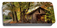 Old Autumn Shed Portable Battery Charger