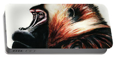 Old Baboon Animal Art Drawing Portable Battery Charger