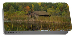 Old Bait Shop On Twin Lake_9626 Portable Battery Charger by Michael Peychich
