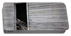 Old Barn 2 Portable Battery Charger by Linda Bianic