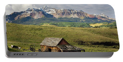 Old Barn And Wilson Peak Horizontal Portable Battery Charger
