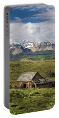 Old Barn And Wilson Peak Vertical Portable Battery Charger