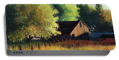 Old Barn At Sunrise Portable Battery Charger
