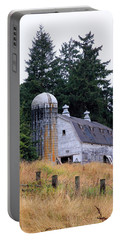 Old Barn In Field Portable Battery Charger by Athena Mckinzie