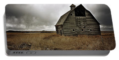 Old Barn Portable Battery Charger by Linda Bianic