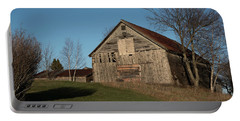 Old Barn On A Hill Portable Battery Charger