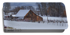Old Barn Portable Battery Charger by Sean Allen