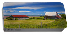 Old Barns At Burntcoat Head Portable Battery Charger by Ken Morris