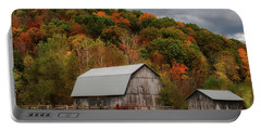 Old Barns Of Beauty In Ohio  Portable Battery Charger