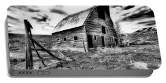 Old Black And White Barn Colorado. Portable Battery Charger