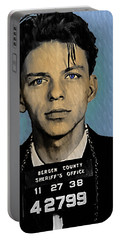 Old Blue Eyes - Frank Sinatra Portable Battery Charger by Bill Cannon