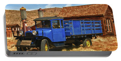 Old Blue 1927 Dodge Truck Bodie State Park Portable Battery Charger by James Hammond
