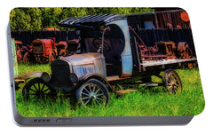 Old Blue Ford Truck Portable Battery Charger by Garry Gay