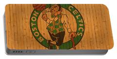 Old Boston Celtics Basketball Gym Floor Portable Battery Charger