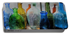Portable Battery Charger featuring the photograph Old Bottles by John Scates