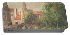Old Bridge In Bruges  Portable Battery Charger