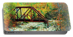 Old Bridge - New Hampshire Fall Foliage Portable Battery Charger