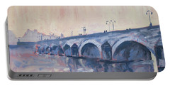Old Bridge Of Maastricht In Warm Diffuse Autumn Light Portable Battery Charger