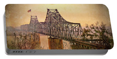 Portable Battery Charger featuring the photograph Old Bridge Of Vicksberg, Ms by Bonnie Willis