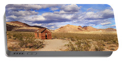 Portable Battery Charger featuring the photograph Old Cabin At Rhyolite by James Eddy