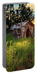 Old Cabin At Sunset Portable Battery Charger