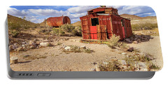 Portable Battery Charger featuring the photograph Old Caboose At Rhyolite by James Eddy