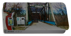 Old Chain Of Rocks Bridge Portable Battery Charger
