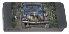 Portable Battery Charger featuring the photograph Old Chevy Truck by Savannah Gibbs