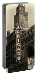 Old Chicago Theater - Vintage Art Portable Battery Charger
