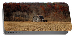 Old Country Barn In Autumn #1 Portable Battery Charger