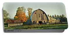 Old Country Barn_9302 Portable Battery Charger by Michael Peychich