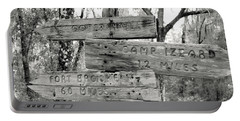 Old Directional Signs At Fort Cooper  Portable Battery Charger by Debra Forand