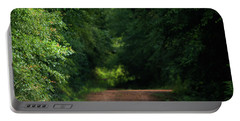 Portable Battery Charger featuring the photograph Old Dirt Road by Shelby Young