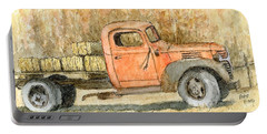 Old Dodge Truck In Autumn Portable Battery Charger