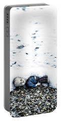 Old Doll On The Beach Portable Battery Charger